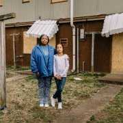 Mother and daughter living in dismal HUD housing