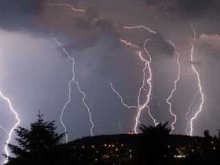 Image of thunderstorm with lightning used to indicate posts about the environment