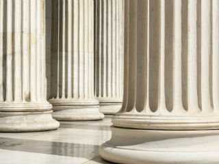 Image of columns used to indicate posts related to government and mold