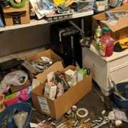 Extreme clutter in the house of a hoarder
