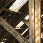 House with moldy timbers