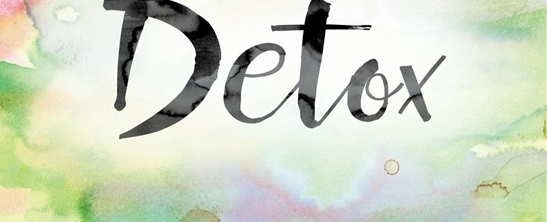 image of the word detox on watercolor background
