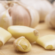 Closeup of garlic cloves